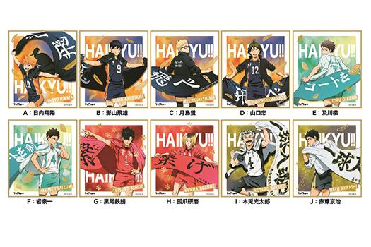 ハイキュー!! 箔押しミニ色紙コレクション 10種